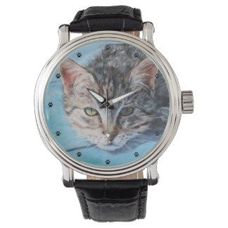 Gray Tabby Cat Fine Art Watch