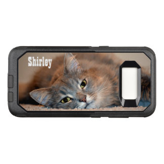Gray, Tan, White Long-Haired Cat by Shirley Taylor OtterBox Commuter Samsung Galaxy S8 Case
