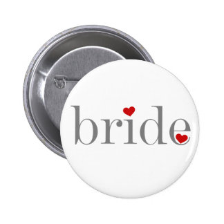 Gray Text Bride 2 Inch Round Button