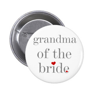 Gray Text Grandma of Bride 2 Inch Round Button