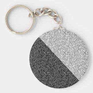 Gray texture basic round button keychain