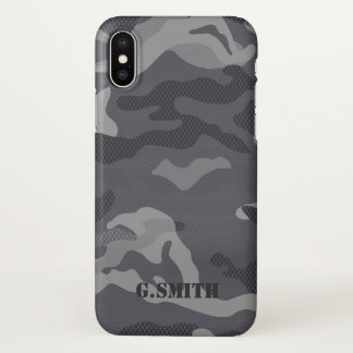 Gray Texture Camouflage. Camo your iPhone X Case