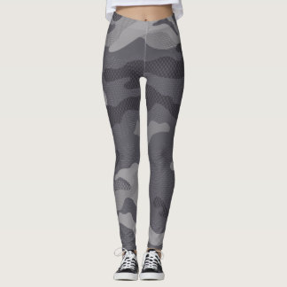 Gray Texture Camouflage. Camo your Leggings