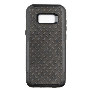 Gray Textured Industrial Metal Pattern OtterBox Commuter Samsung Galaxy S8+ Case
