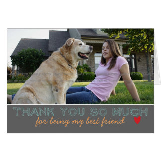 Gray Thank You Photo Greeting Cards | Best Friend