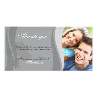 Gray Thank You Photocard Custom Photo Card