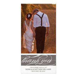 GRAY THANKS | WEDDING THANK YOU CARD PHOTO CARD