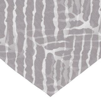 Gray Tiger Stripes Canvas Look Short Table Runner
