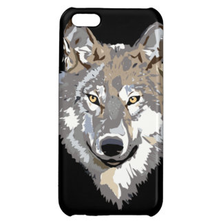 Gray Timber Wolf Cover For iPhone 5C