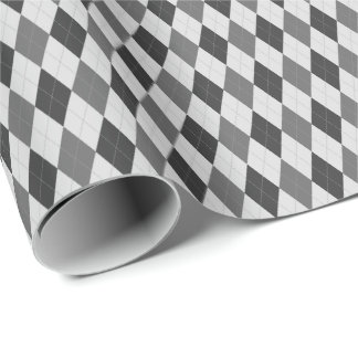 Gray Tones Argyle Wrapping Paper