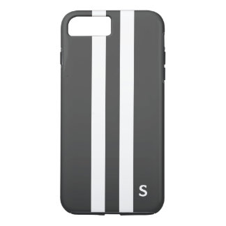 Gray Tough Stripe iphone 7 Plus Case for Men