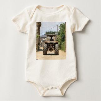 Gray Tractor on El Camino, Spain Baby Bodysuit