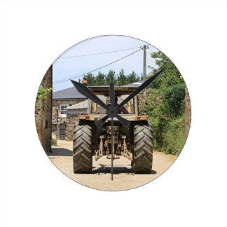 Gray Tractor on El Camino, Spain Clocks