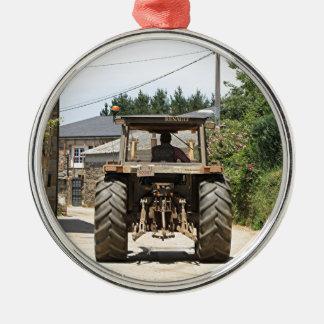 Gray Tractor on El Camino, Spain Metal Ornament