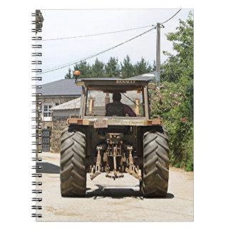 Gray Tractor on El Camino, Spain Notebook