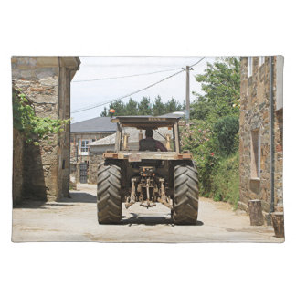 Gray Tractor on El Camino, Spain Placemat