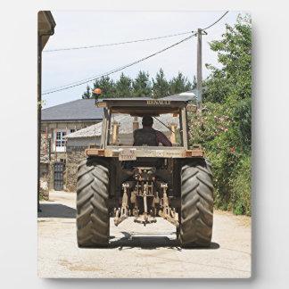 Gray Tractor on El Camino, Spain Plaque