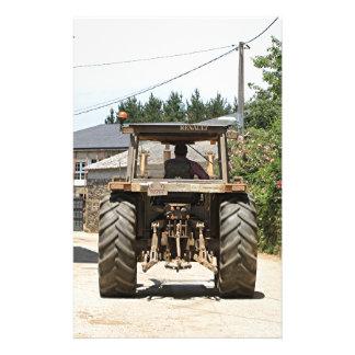 Gray Tractor on El Camino, Spain Stationery