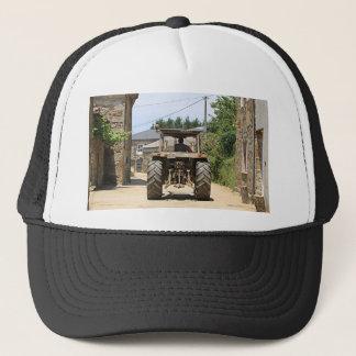Gray Tractor on El Camino, Spain Trucker Hat
