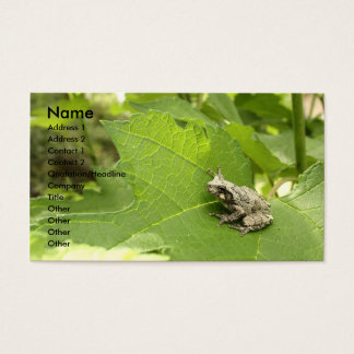 Gray Tree Frog Business Card