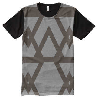 Gray Triangle Ethnic Pattern