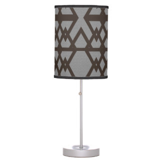 Gray Triangle Ethnic Pattern Table Lamp