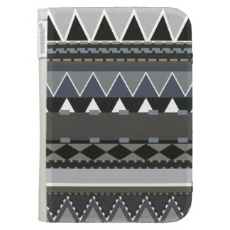 Gray Tribal Inspired Kindle Cases