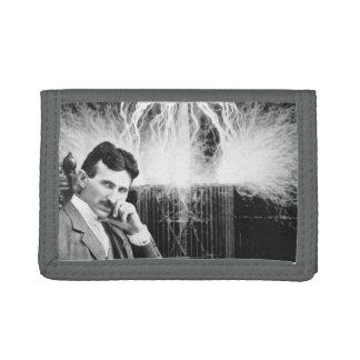 Gray Trifold Nikola Tesla Wallet