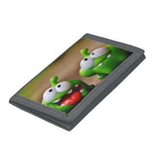 Gray TriFold Nylon Wallet Cartoon motive
