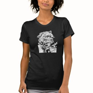 Gray Tshirt featuring Animan Line Drawing