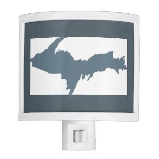 Gray Upper Peninsula Michigan Night Light