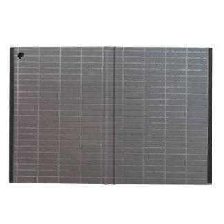 Gray vertical tiles iPad air cases