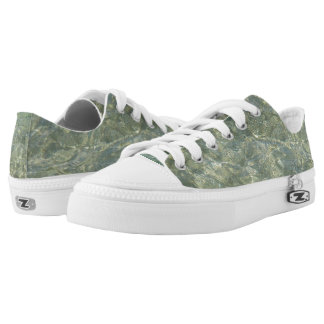 Gray water pattern Low-Top sneakers