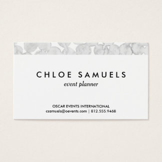 Gray watercolor dots grey circle painted pattern business card
