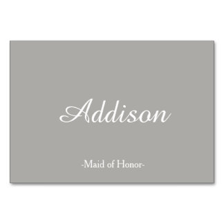Gray Wedding Place Cards