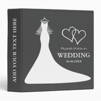 Gray wedding planner binder keepsake photo album
