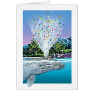 Gray whale birthday card