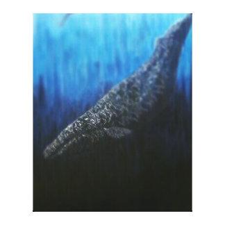 Gray whale canvas print