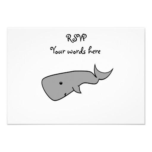 Gray whale custom invites