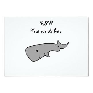 "Gray whale 3.5"" x 5"" invitation card"