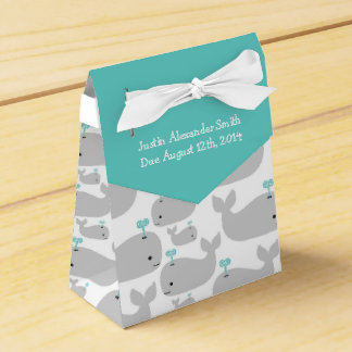 Gray Whale Theme Baby Shower Favor Box