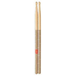 Gray White Anchors Pattern, Coral Monogram Drumsticks