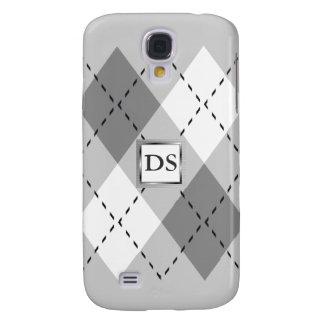 Gray, White Argyle iPhone3 Case