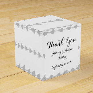 Gray White Aztec Arrows Pattern Party Favor Box