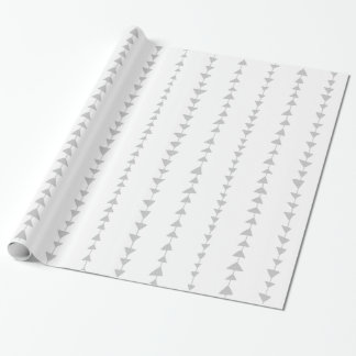 Gray White Aztec Arrows Pattern Wrapping Paper