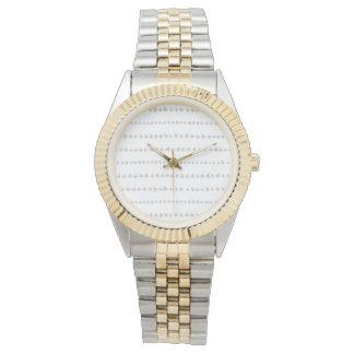 Gray White Aztec Arrows Pattern Wrist Watches
