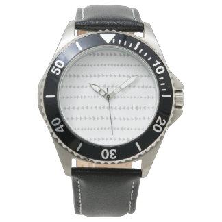 Gray White Aztec Arrows Pattern Wristwatches