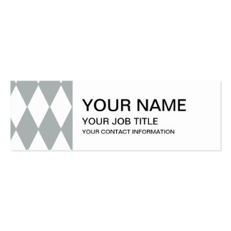Gray White Harlequin Pattern Business Card Templates