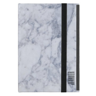 Gray & White Marble Stone Pattern iPad Mini Case
