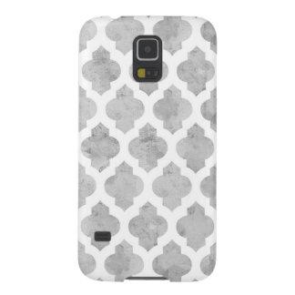 Gray & White Moroccan Quatrefoil Galaxy S5 Case